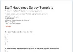 staff happiness survey template