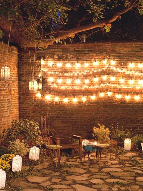 ideas for creating a twinkling garden ambience