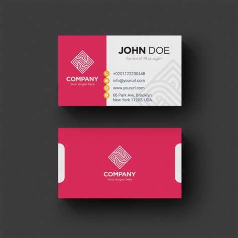 Template Para Tarjetas Bussines Card by Tarjeta De Negocios Rosa Y Blanca Descargar Psd Gratis