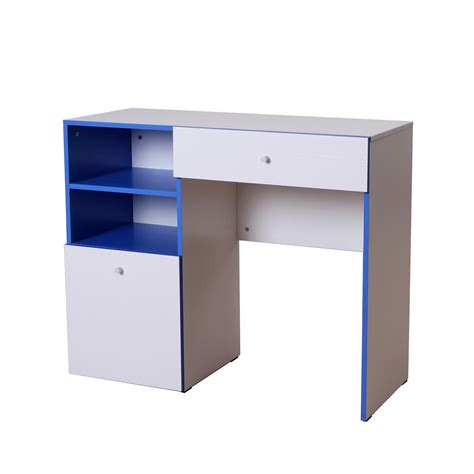 homcom 40 student study desk w storage shelves and