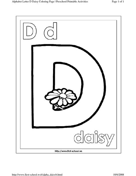 d coloring pages preschool best photos of letter a template for preschool alphabet
