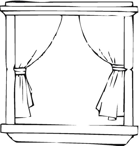 curtain drawing coloring pages free household coloring pages