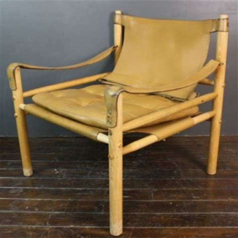 arne norell sirocco light tan leather safari chair lovely  company