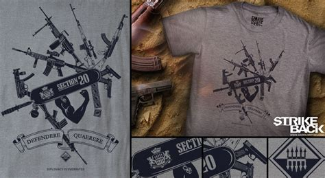 section 20 tv series project strikeback t shirt coming soon from dark bunny