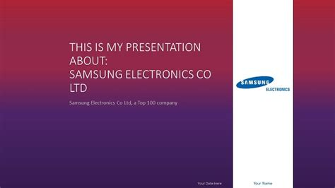 Samsung Powerpoint Template Widescreen Slide2 Widescreen Powerpoint Templates