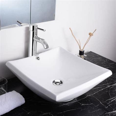 bathroom sink and faucet combo aquaterior bathroom porcelain ceramic vessel sink bowl w