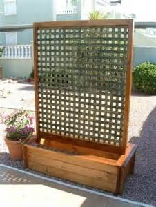 trellis planter for privacy garden 2014