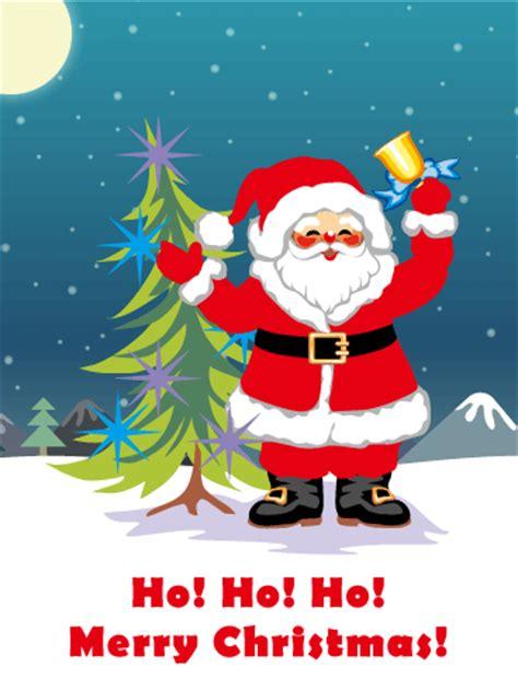 ho ho ho santa claus christmas card birthday greeting cards  davia