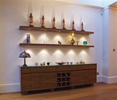 Floating Shelves With Lights by Walnut Floating Shelves With Led Lights