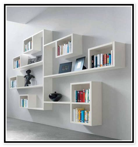 Artistic Hanging Wall Shelves For Gorgeous Room Interiors Bookshelves On The Wall