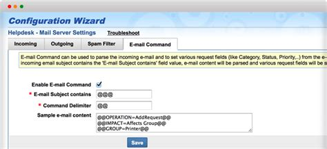 Help Desk Email by Email Commands Help Desk Software Manageengine