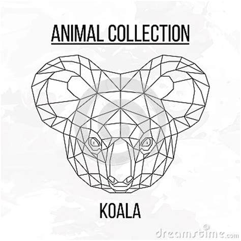 geometric koala tattoo geometric koala head stock vector image 69905392