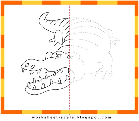 draw for free free printable drawing worksheets for alligator