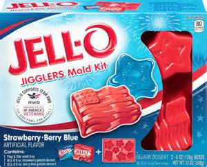 Partnered for a new team red white and blue jigglers mold kit