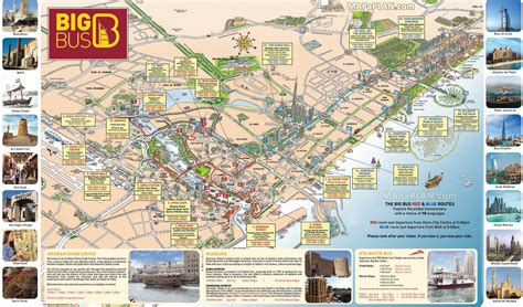 dubai map hop  hop  day big bus sightseeing