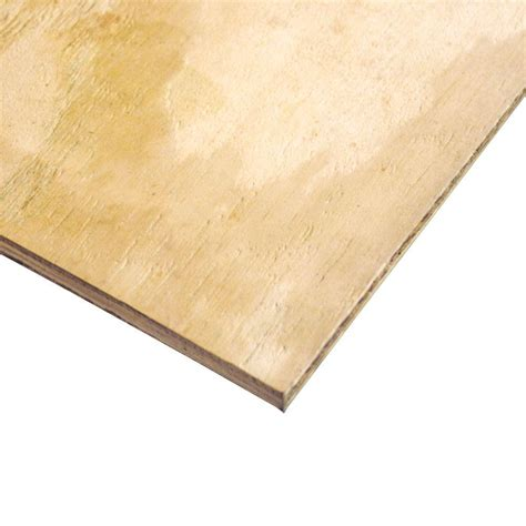 home depot paint grade plywood 3 4 in x 4 ft x 8 ft cdx pine plywood 1060 the home depot
