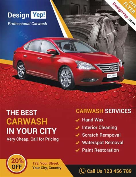 car flyer template freepsdflyer car wash business free psd flyer