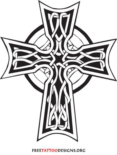 stone celtic cross tattoo grey ink celtic cross design