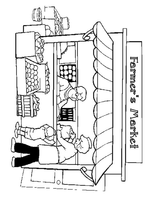 preschool coloring pages grocery store awning business show market stall inspiration pinterest