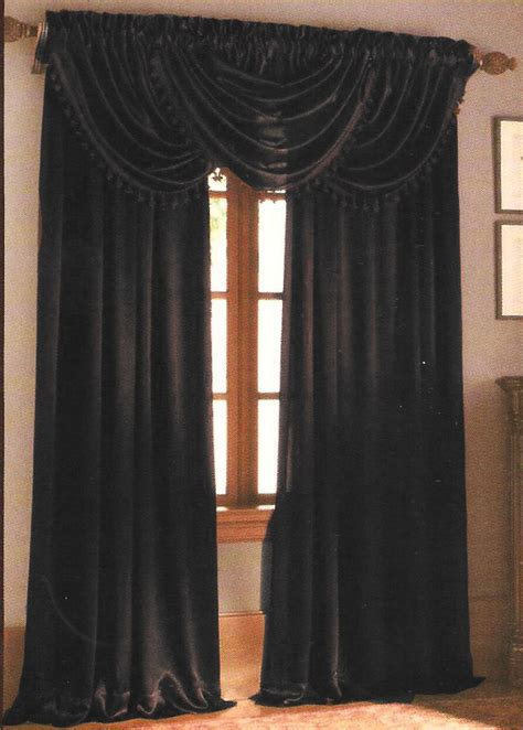 Black Waterfall Valance waterfall valance brown home decor outlet
