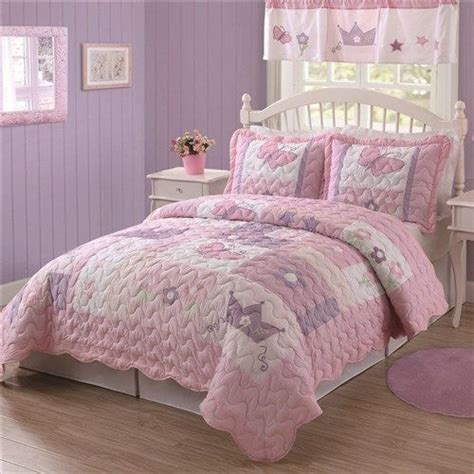girls queen comforter kids girls butterfly princess purple pink twin bedding