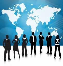 Business people team with world map free vector graphics all free