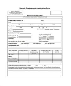 employment application template pdf generic employment application vertola