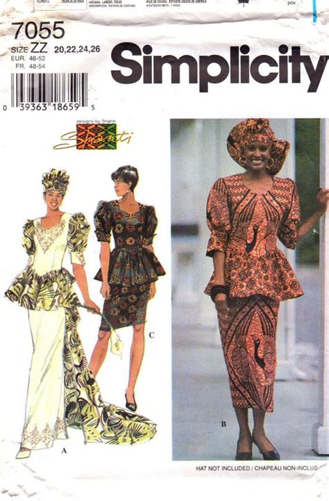 sewing patterns in south africa simplicity 7055 misses african wedding sewing pattern