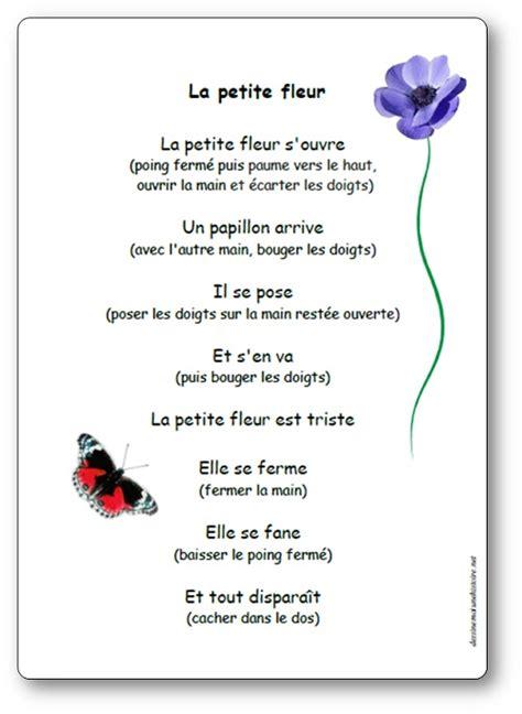 Paroles Illustr 233 Es De La Comptine La Petite Fleur Jeu De
