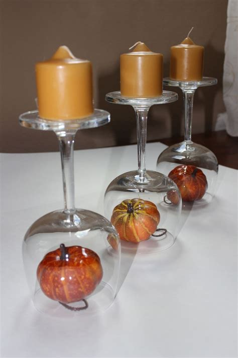 wine glasses for centerpieces recycled wine glasses fall wine glass centerpieces