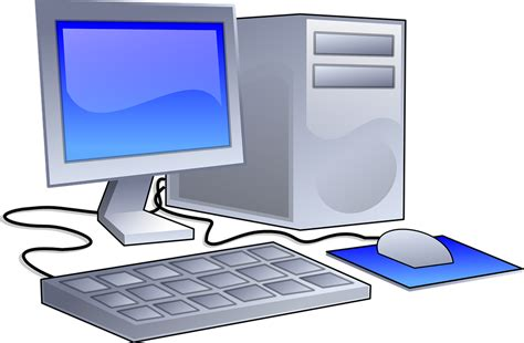 computer per ufficio immagine vettoriale gratis workstation computer ufficio