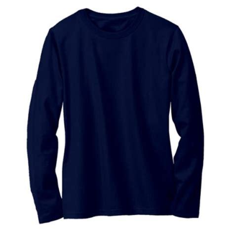 Baju Polos Biru Navy kaos polos lengan panjang warna biru navy oblong biru navy lengan panjang o neck 15