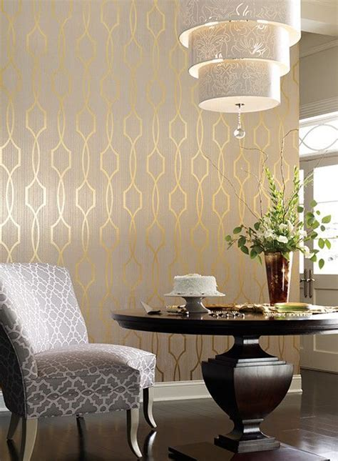 gold wallpaper dining room 17 best ideas about dining room wallpaper on pinterest
