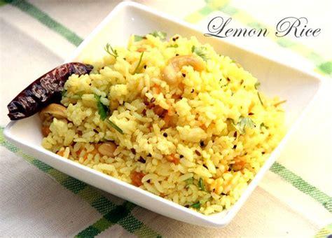 Lemon Rice Recipe Lemon Rice Recipe South Indian Style