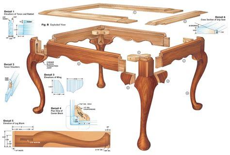queen anne desk legs queen anne footstool cabriole leg woodworking projects