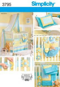 Sewing Patterns For Crib Bedding Simplicity 3795 Baby Dalia