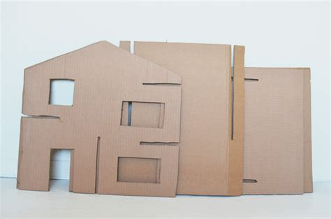 how to put a box together diy recycled cardboard dollhouse cakies