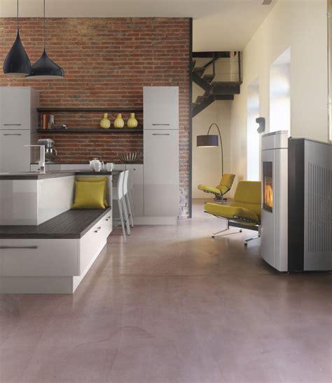 quel sol pour une cuisine cuisine de style loft avec sol en bton with quel sol pour
