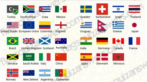 flags of the world quiz easy flags quiz answers level 1