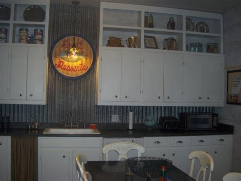 tin backsplashes for kitchens added old barn tin to the backsplash cottonwood farm