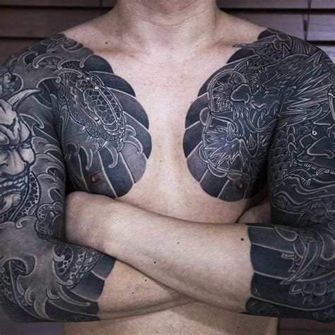 solid black tattoo sleeve best 25 yakuza ideas on irezumi half