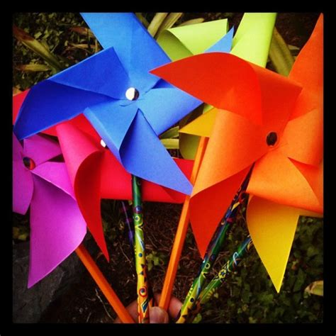 How To Make Paper Pinwheels - pencil pinwheel craft with colorful astrobrights