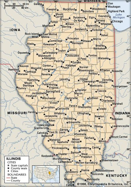 illinois counties map with cities map of illinois cities