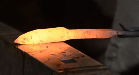 how to forge a knife forging diy how to make a knife from a railroad spike