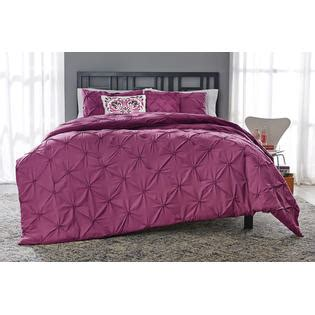 essential home 5 comforter set pintuck purple