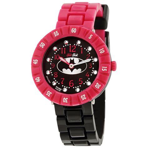 Swatch Girly swatch flik flak batgirl black pink and black