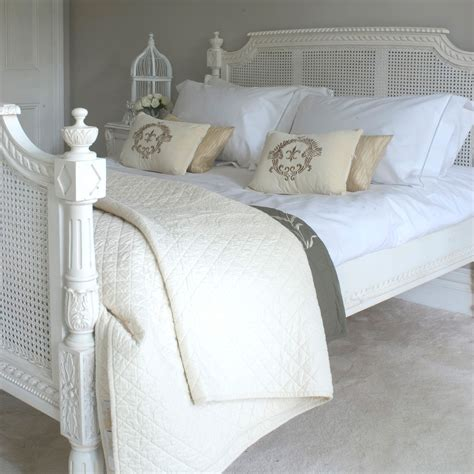white rattan bedroom furniture shabby chic french bed carved rattan kingsize 5ft
