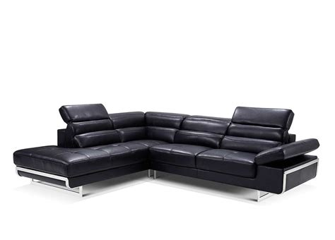 leather black sectional modern black leather sectional sofa ef347 leather sectionals