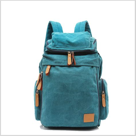 custom student canvas bagpack bag new design hiking travel