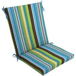 walmart patio pillows mainstays outdoor chair cushion blue stripe walmart